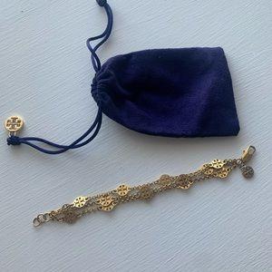 Gold Tory Burch bracelet